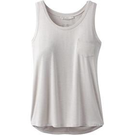Prana Foundation Scoop Neck Tank Women light grey heather